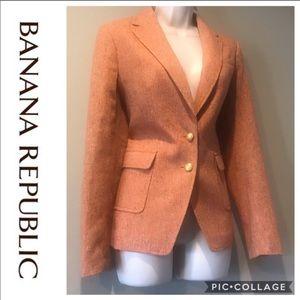 BANANA REPUBLIC Burnt Orange Wool Blend Blazer